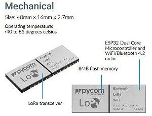 Módulo Pycom L01 OEM: integra LoRa, WiFi e Bluetooth no mesmo item - L01