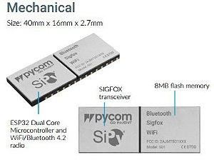 Módulo Pycom S01 OEM 22dBm: integra Sigfox, WiFi e Bluetooth no mesmo item - S01 22dBm RCZ4