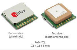 Receptor GNSS GPS Glonass com antena integrada u-blox PAM-7Q