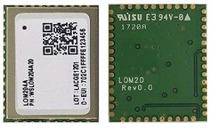 Modem LoRa para rede publica LoRaWAN e privada P2P - Wisol LOM204A02