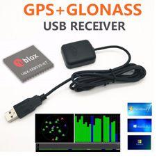 Receptor GNSS (GPS / Glonass) com conector USB e cabo de 1,5M - GNSS-UBX-M8-USB-1_5M