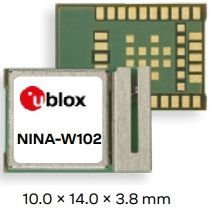 Módulo WiFi, Bluetooth clássico, BLE (Bluetooth Low Energy) com antena integrada NINA-W102