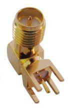Conector RP-SMA(F) 90 graus PTH - CON-RPSMAF-RA-PTH-JS