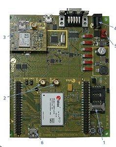 Kit de desenvolvimento u-blox para modem TOBY-L280 (2G/3G/4G) - EVK-L28
