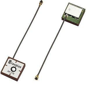 Antena GPS patch ativa 17x17mm conector u.FL