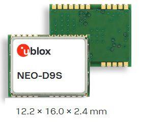 Receptor satelital dados de correção banda L para GNSS (GPS / Glonass / .Biedou / QZss..) - NEO-D9S