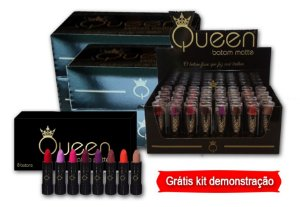 BATOM QUEEN MATTE PRIMAVERA CXA C/4 DISPLAYS - GRATIS KIT C/8 UN