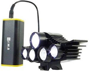 Farol Bike Lanterna Bicicleta Bateria Recarregável