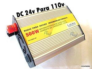 Inversor Transformador Veicular Automotivo 500w 24v 110v
