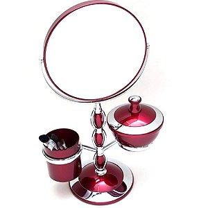 Espelho bancada Mesa Maquiagem Dupla Face Aumento 5x