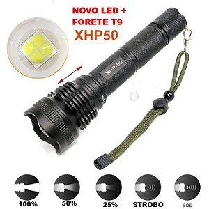 Lanterna Tática Police Led Xml T9  XHP-5O Recarregável