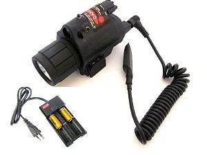 Lanterna com mira laser ultra forte