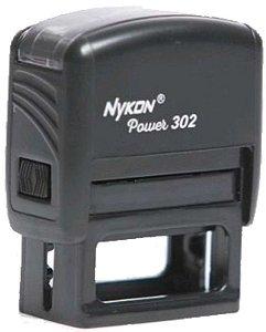 Carimbo Automático Personalizado Nykon Black N302 14x38mm