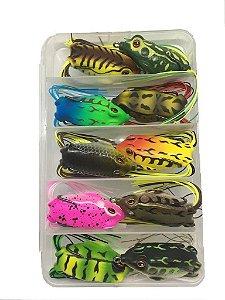 Kit Isca Frog c/ Estojo 10 Iscas