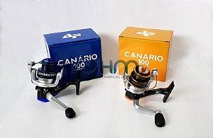Molinete Canário 100 Ultra Light Alumínio 3bb Cores Sortidas