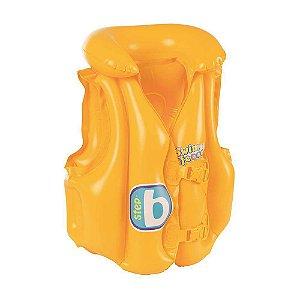 Colete inflável infantil Bestway Swin Safe com encosto de cabeça e fecho duplo indicado para crianças 3 a 6 anos