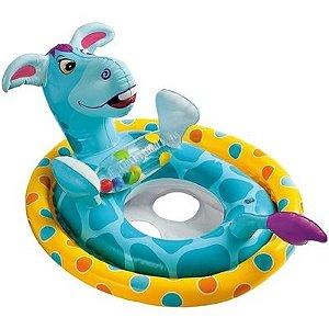 Boia Inflável Baby Bote Intex Assento Fralda Para Piscina Design Cavalinho