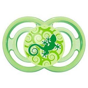 Chupeta Perfect Neutra Modelo Salamandra Verde Bico silicone 6m+