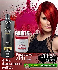COMBO ZEN 1000ML GTS MASC CHEMICAL RED 500G - FRETE GRATIS