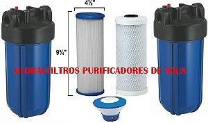Conjunto De Filtros Completos Para Cisterna E Poço Artesiano Com dosador de Cloro Flutuante 4200