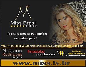 Inscrições MISS BRASIL PLUS SIZE - À VISTA COM CARTÃO