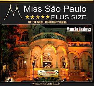 CONVITES MISS SÃO PAULO PLUS SIZE