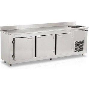 Balcão de Serviço Refrigerado 3 Portas Cuba Lado Esquerdo – BSRAF – 3000 – Refrimate