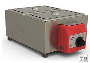 Derretedeira de Chocolate Elétrica Inox 2 Cubas 5 Litros 127V - PRD-200 - Progás