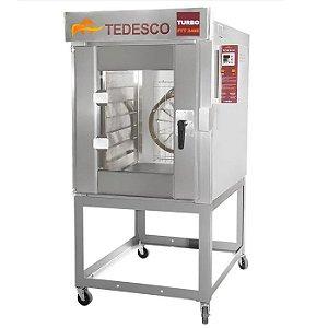 Forno Turbo 8 Esteiras FTT-240  Tedesco - A Gás Com Cavalete