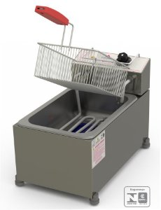 Fritadeira Profissional Elétrica Progás Inox 1 Cubas 5 Litros PR-10E STYLE 220V