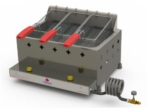 Fritadeira Profissional a Gás Progás Inox 1 Cuba 10 Litros PR-30G