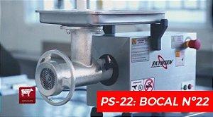 MOEDOR E PICADOR DE CARNE PROFISSIONAL BOCA 22 INOX - PS22 - SKYMSEN