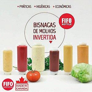 Bisnaga Invertida Fifo Original 710ml (24OZ.) - Para Molhos e Caldas