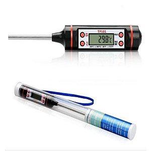 Termometro Digital Espeto Para Alimentos com Haste 145mm