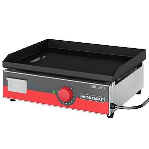 Chapa Bifeteira Elétrica Inox 60cm- 220V-CBE 600L-Metalcubas