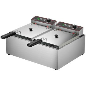 Fritadeira Elétrica c/ tampa 10L c/ 2 cubas de 150mm-FRCE-10
