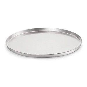 Forma de pizza 40 cm em alumínio - assadeira com borda alta
