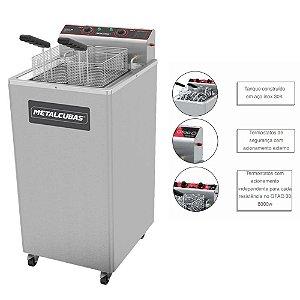 Fritadeira Elétrica Água E Óleo Metalcubas GFAO-30P 5,500 W