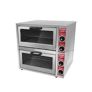 Forno Elétrico para Pizzas 2 Câmaras 41 x 41 - Metalmaq Seminovo