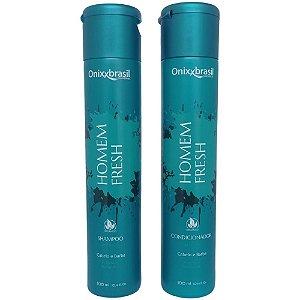 Homem Fresh - Shampoo 300 ml + Condicionador 300ml - Para cabelo e barba