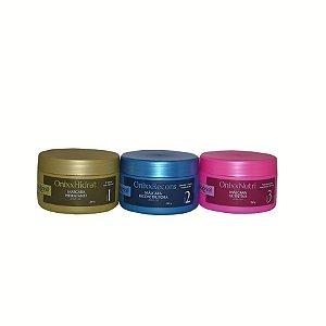 Onixx Three , cronograma capilar de alto impacto tratamento rápido e eficaz , kit composto por 3 itens hidratante, reconstrutora e nutritiva
