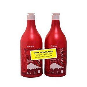 Plástica Japonesa K10 Escova Progressiva Alisamento Perfeito Shampoo + Gloss