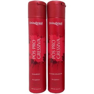 Pos Progressiva - shampoo + condicionador - Revitaliza cabelos que passaram por processos químicos - Prolonga o efeito liso.