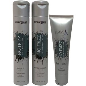 No frizz 300ml - Shampoo + Condicionador + Leave-in - reduz volume e alinha os fios