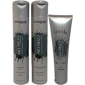 No frizz 300ml - Shampoo + Condicionador + Leave-in - reduz volume e alinha os fios