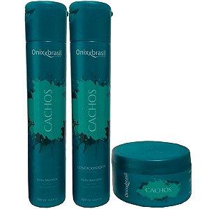 kit Cachos - Shampoo + Condicionador + Mascara - realça e ativa os cachos