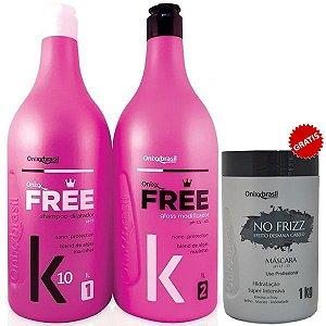 Escova Progressiva Onixx Free k10 + Brinde Máscara No Frizz Desmaia cabelo