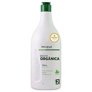 Gloss Blond Escova Orgânica 1l - escova progressiva de produtos naturais e biodegradáveis - cabelos loiros, grisalhos ou com mechas vermelhas