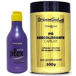 Pó descolorante 500g + Plex 300ml (pré descoloração) - combinação perfeita