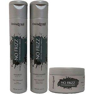 No frizz Shampoo 300ml + condicionador 300ml + Máscara 250g
